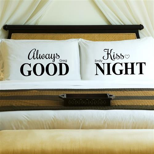 Couples Pillow Case Set - Always Kiss - Tressa Gifts