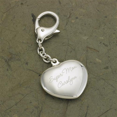 Heart Silver Plated Key Chain - Tressa Gifts