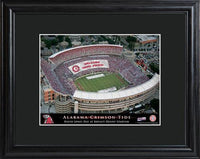 College Stadium Print with Wood Frame - ALABAMA - Tressa Gifts