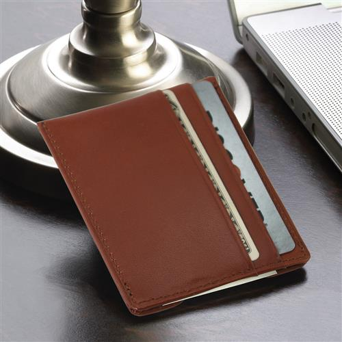 Brown Leather Wallet & Money Clip - Tressa Gifts