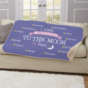 I Love My Grandkids To The Moon & Back Sherpa Blanket