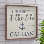 Personalized Life Is Better At The Lake Wood Pallet Sign - Tressa Gifts