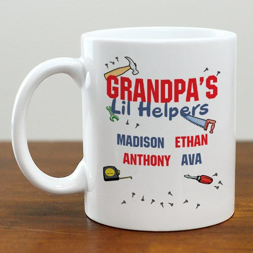 Grandpa's Lil Helpers Personalized Mug