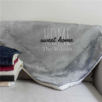 Personalized Home Sweet Home Sherpa Blanket