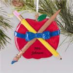 Teachers Apple Christmas Ornament - Tressa Gifts