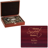 Home Sweet Home 5 Piece Laser Engraved Wine Set - Tressa Gifts