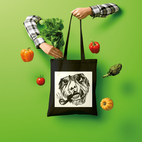 Amazing Smoking Monkey Design Shopping Handbag Tote Bag For Gift.