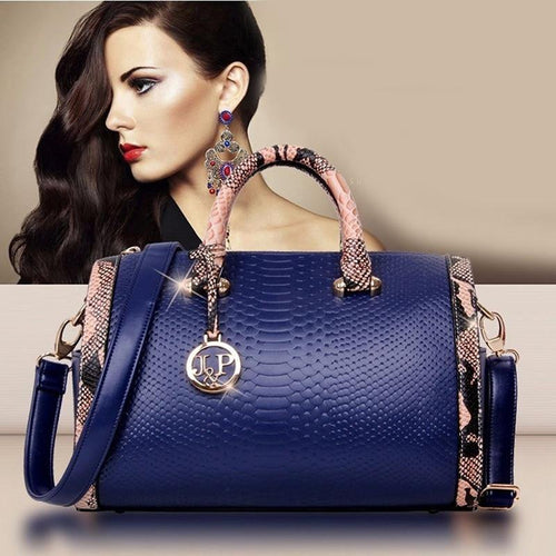 Luxury Women Crossbody Shoulder Crocodile Leather Purse Snake Skin Bag