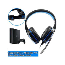 2.2M PC780 Gaming Headsets with Light Mic Stereo Earphones Deep Bass for PC Computer Gamer Laptop Black and blue do not shine