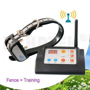 Wireless Dog Pet Fence Collar Beep Shock Vibration 2 in 1