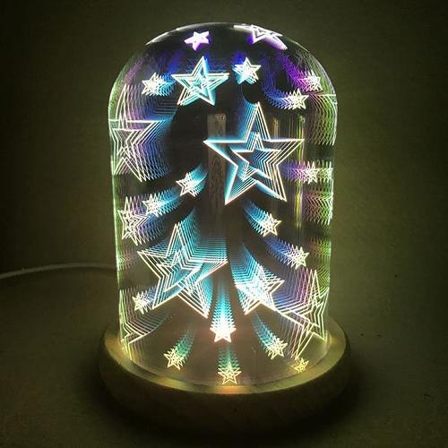 3D Display Starry Glass LED Dome - mercy-abounding