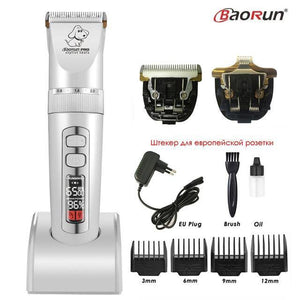 Professional Rechargeable Dog Pet Hair Clipper Electric Grooming Trimmer