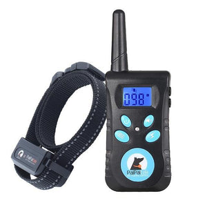 Training Collar With Remote Dog Bark Collar 2-in-1 Automatic Bark Stop Shock Collar 550Yard Range Rechargeable And Waterproof