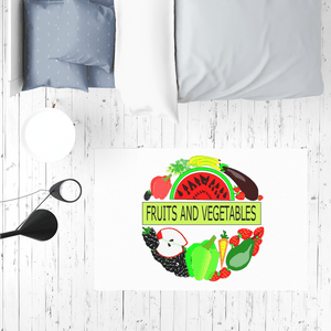 Quality Fruits And Vegetables Design Table Cover Mat