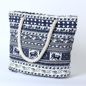 Women Shoulder Handbag Elephant Flower Pattern