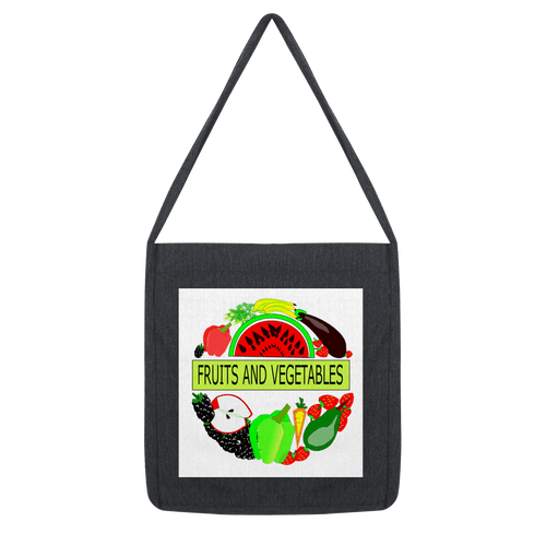 Classic Cotton Fabric Fruits And Vegetables Design Tote Bag