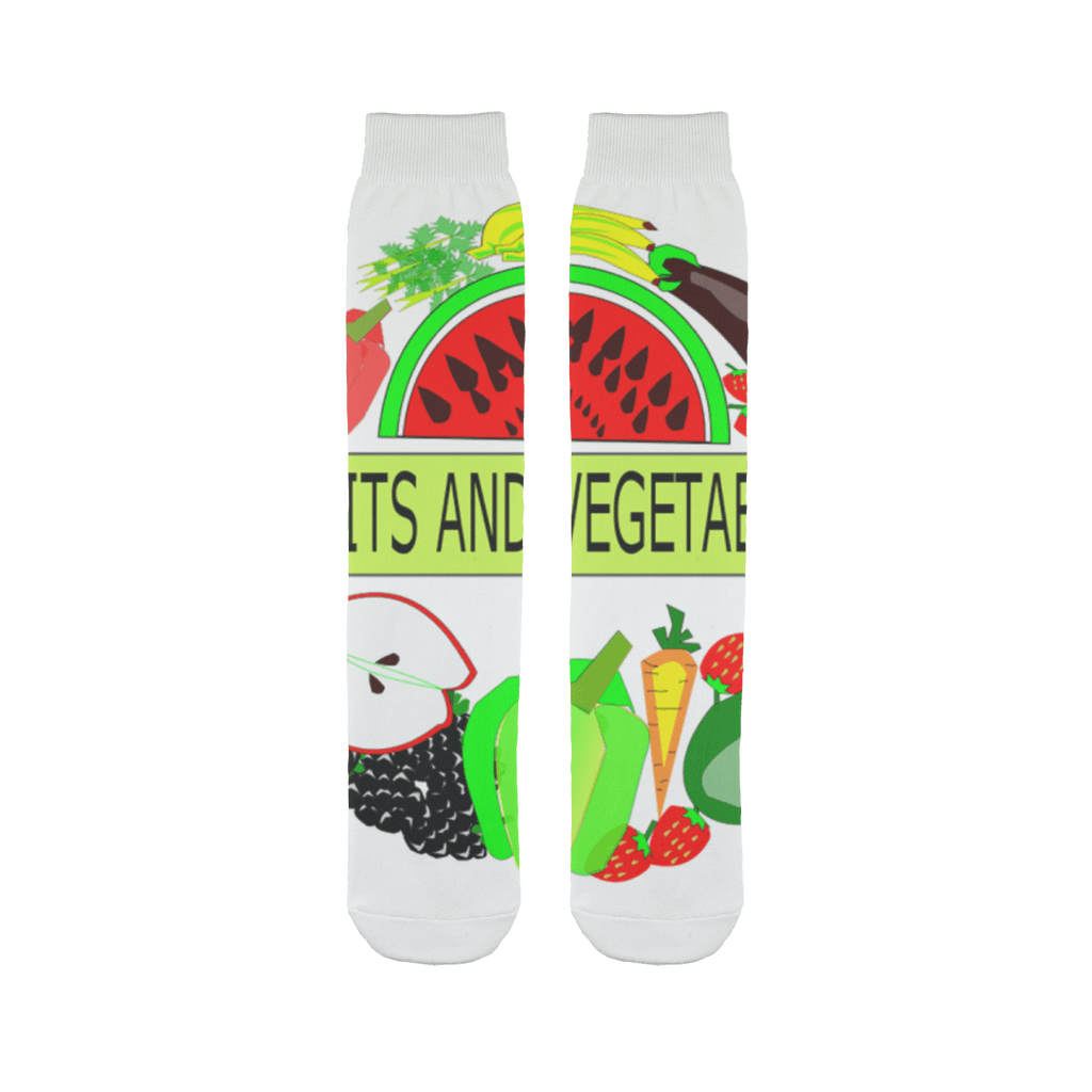 Comfortable and Durable Fruits And Vegetables Design Tube Sock