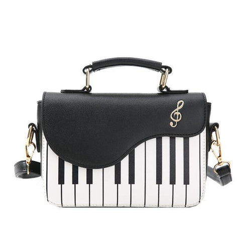 Portable Lady Women Piano Shoulder Crossbody Bags