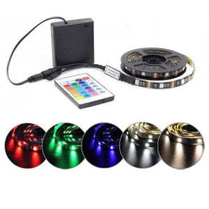Waterproof Strip Light Remote Control Battery Operated LED