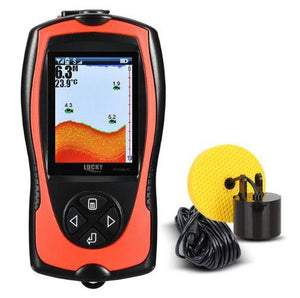 Portable Handheld Fish Finder Depth Sonar Solar Sensor Alarm