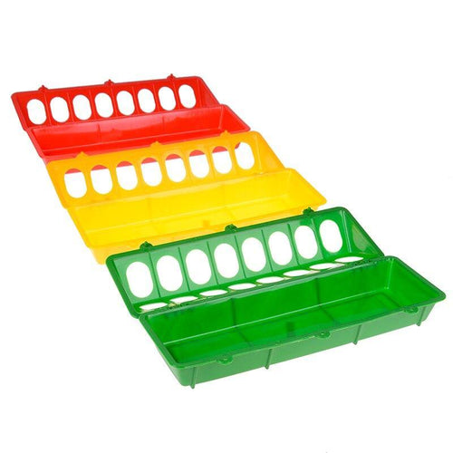 Plastic Pheasant Feeding Bucket Chicken Farming Tool Chick Flip-Top Poultry Ground Feeder Chicken Poultry Feeder Trough