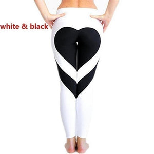 High Waist Sexy Gym Wear Yoga Pants Love design Leggings Workout Tights for Women Heart Booty Pants Push Up Running Fitness