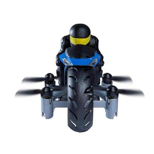 Rc Motorcycle Toy Remote Control Amphibious Four Axis Uav One Key Roll Light Airplane Model For Kids Birthday Gift