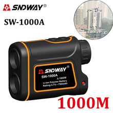 SNDWAY Telescope Laser Range Finder for Hunting Golf Sports 800M/1000M/1500M Monocular Rangefinder Laser Distance Meter Tools