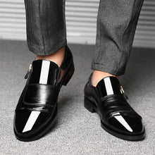 Mazefeng Classic Business Men's Dress Shoes Fashion Elegant Formal  Wedding Shoes Men Slip On Office Oxford Shoes For Men Black