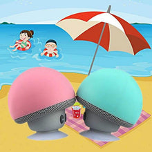 Cartoon mini portable small mushroom head wireless bluetooth speaker silicone suction cup speaker phone holder audio