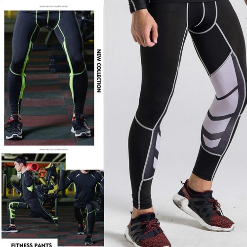 Compression Men Runing Leggings Pants Outdoors Basketball Football Training Tights Gym Fitness Sports Jogging Quick Dry Legging