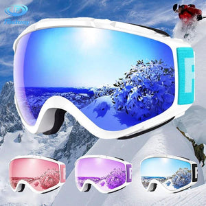 Findway brand Ski Goggles UV Protection OTG Design Anti-Fog Winter Snow Sport snowboard Snowmobile skiing Glasses for Men Women