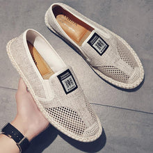 2020 Summer Linen Canvas Shoes Man Breathable Cool Mesh Flat Casual Shoes For Men Breathable Slip-on Fisherman Driving Shoes jkm