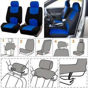 Universal 9pcs Styling Full set Seat Covers Cloth Front/Back Interior Accessories Autom Protector Car Seat Cover Dropshipping