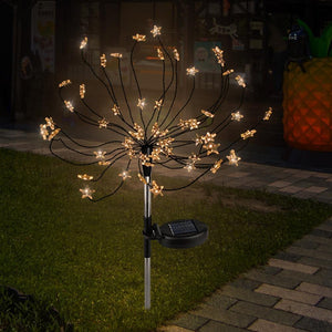 Hot Sell 2pcs 90 LED Solar Powered Firework Lights IP44 Waterproof Outdoor Lamp for Landscape Garden Outdoor Decoration