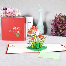 3D Pop-Up Cards Flowers Birthday Card Anniversary Gifts Postcard Unicorn Maple Cherry Tree Wedding Invitations Greeting Cards