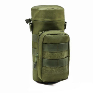 Outdoor Travel Tool Kettle Set Molle Water Bottle Bag Pouch Nylon Tactical Bottle Holder Hunting Climbing Camping Hiking Bag