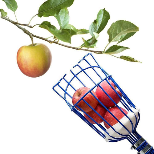 Detachable Fruit Picker Head Carbon Steel Gardening Greenhouse Fruits Collection Picking Catcher Device Farm Garden Tools