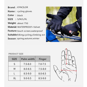 Winter Cycling Gloves With Wrist Support Touch Screen Bicycle Gloves Outdoor Sports Anti-slip Windproof Bike Full Finger Gloves