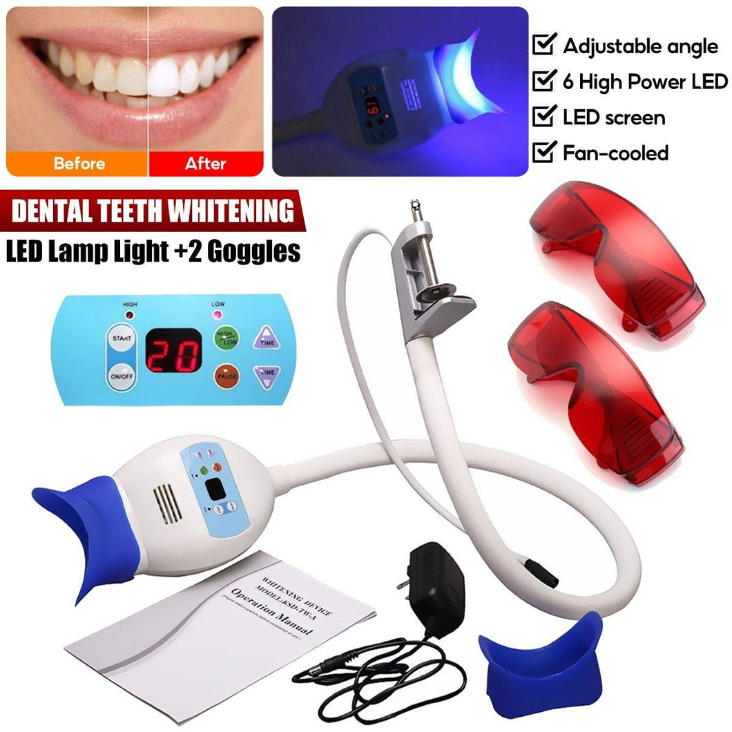 Good Quality New Dental LED Lamp Bleaching Accelerator System Use Chair Dental Teeth Whitening Machine White Light + 2 Goggles