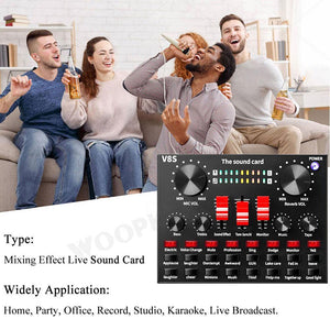 Wired Microphone BM 800 Mic stand Studio condenser Microphone With Filter V8 Sound Card Vocal Recording KTV Karaoke Microphone