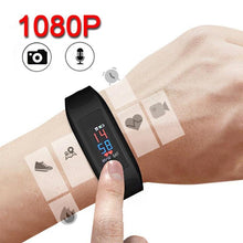 1080P Long Audio Recording HD Camera Color Touch Screen Voice Video Recorder Adult Fitness Tracker Watch Bracelet Smart Band