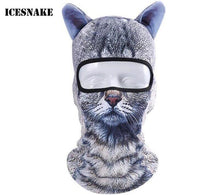 ICESNAKE Motorcycle 3D Animal Ear Balaclava Full Face Mask Bicycle Hats Snowboard Winter Warmer Cat Dog Face Mask