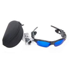 Wireless Earphone Sunglasses Bluetooth Headset Mic Mp3 Stereo