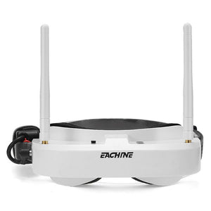 Original Eachine EV100 720*540 5.8G 72CH FPV Goggles With Dual Antenna Fan 7.4V 1000mAh Battery Black White For RC Model