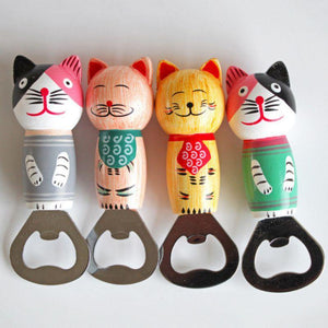 Bottle Openers Cartoon Cat Bear Kitty Beer Bottle Opener Funny Fridge Magnet Stainless Steel Bar Tools