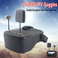 LS-800D FPV Goggles with DVR 5.8G 40CH 4.3 Inch 5 Inch 854*480 Video Headset HD 2000mAh Battery For RC Model