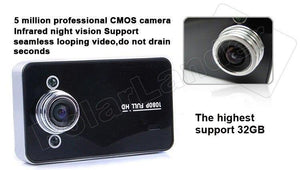 IR Night vision Full  1080P K6000 Car DVR Video Camera Recoder MI motion Detection 120 degree wide viewing angle