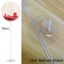 Birthday Party Decor LED Balloon Column Stand With Base Transparent Foil Balloon Christmas Wedding Decor Home Decor Accessories