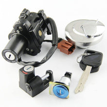 Motorcycle Ignition Switch Fuel Gas Tank Cap Cover Seat Lock Key Set Kit For Honda CB400SS
